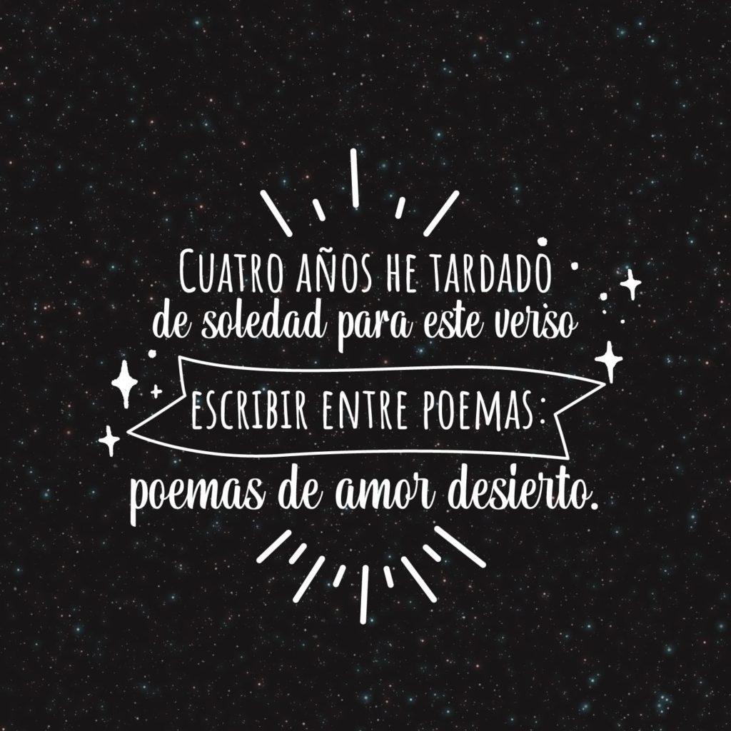 «Poemas de amor desierto» · Poema de Ibai Fernández